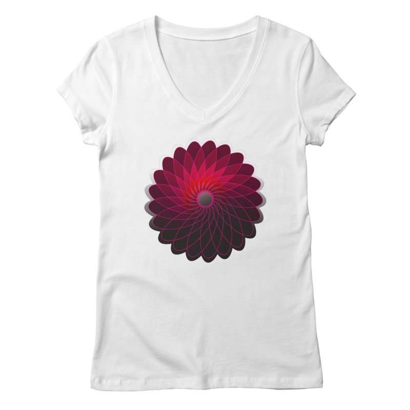 Red shining gyro Women's Regular V-Neck by fruityshapes's Shop