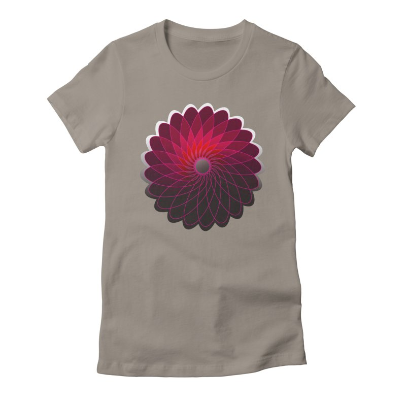 Red shining gyro Women's Fitted T-Shirt by fruityshapes's Shop