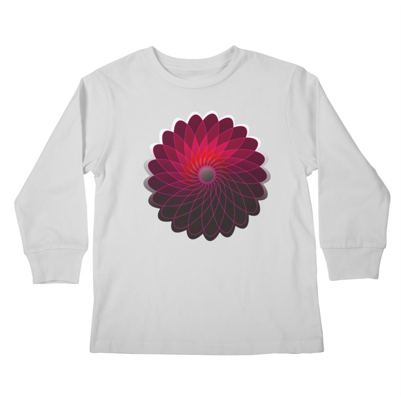 Red shining gyro Kids Longsleeve T-Shirt by fruityshapes's Shop