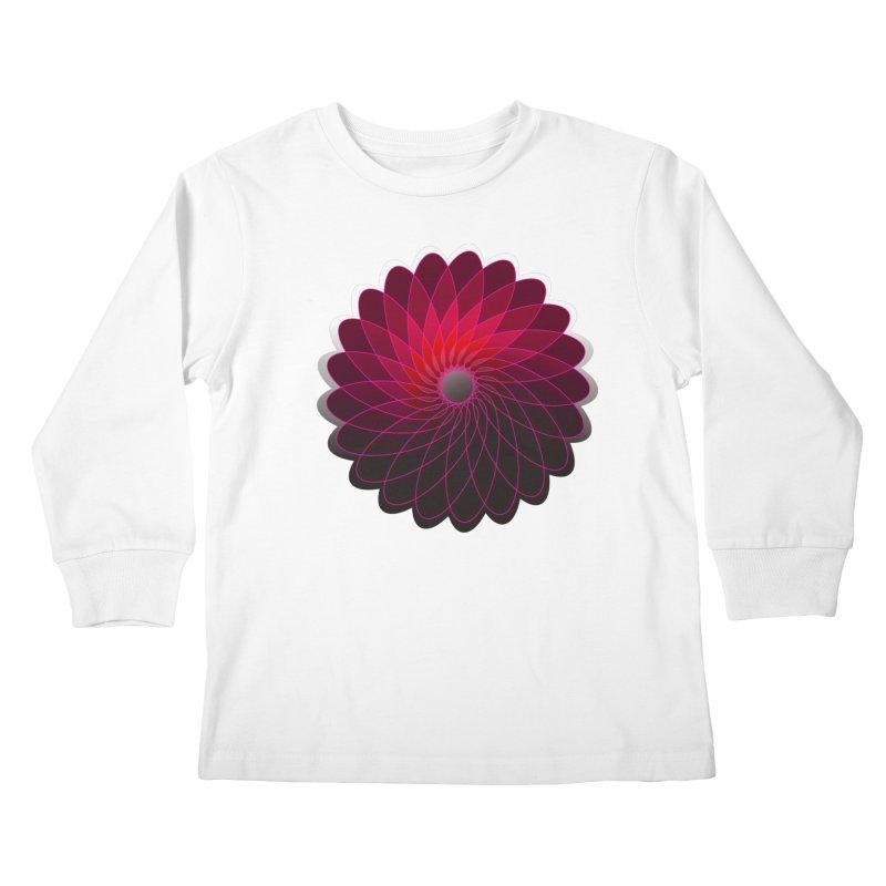 Red shining gyro Kids Longsleeve T-Shirt by fruityshapes's Shop