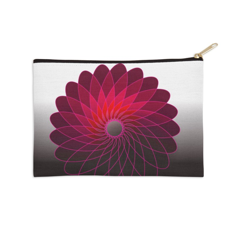 Red shining gyro Accessories Zip Pouch by fruityshapes's Shop