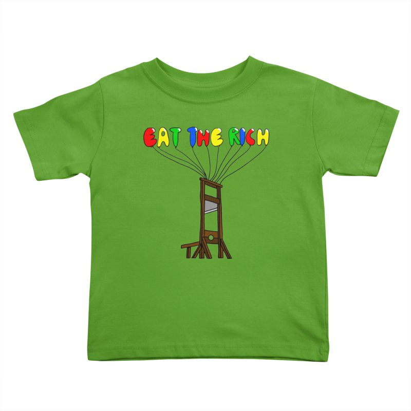 Eat The Rich (Baloons) Kids Toddler T-Shirt by FrustratedNerd Shop