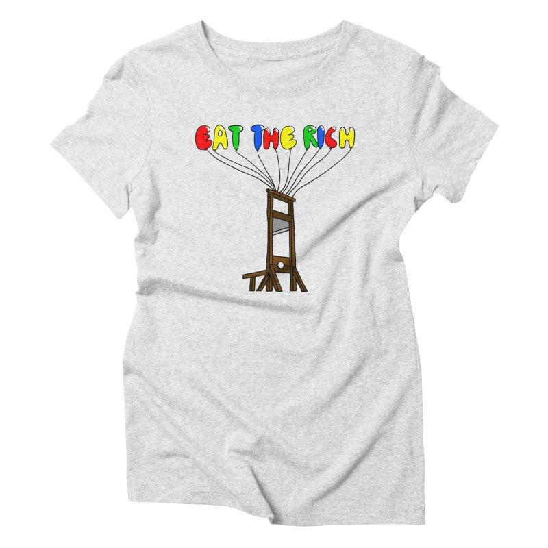 Eat The Rich (Baloons) Women's T-Shirt by FrustratedNerd Shop