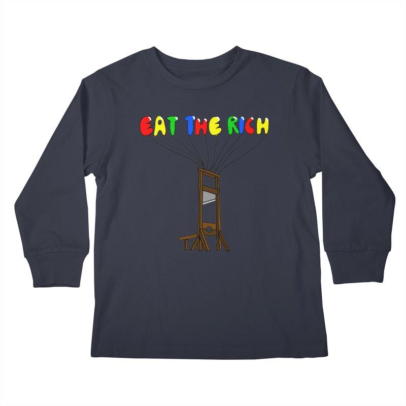 Eat The Rich (Baloons) Kids Longsleeve T-Shirt by FrustratedNerd Shop