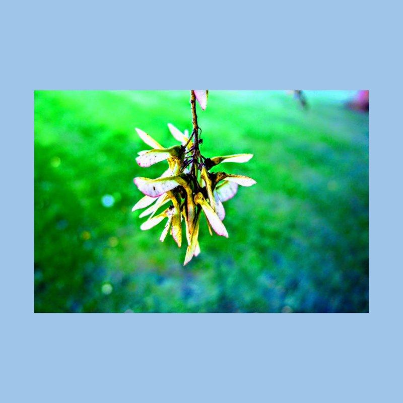 Leaves hang like jewlery whit green/blue background Home Fine Art Print by frydenlundphoto's Artist Shop