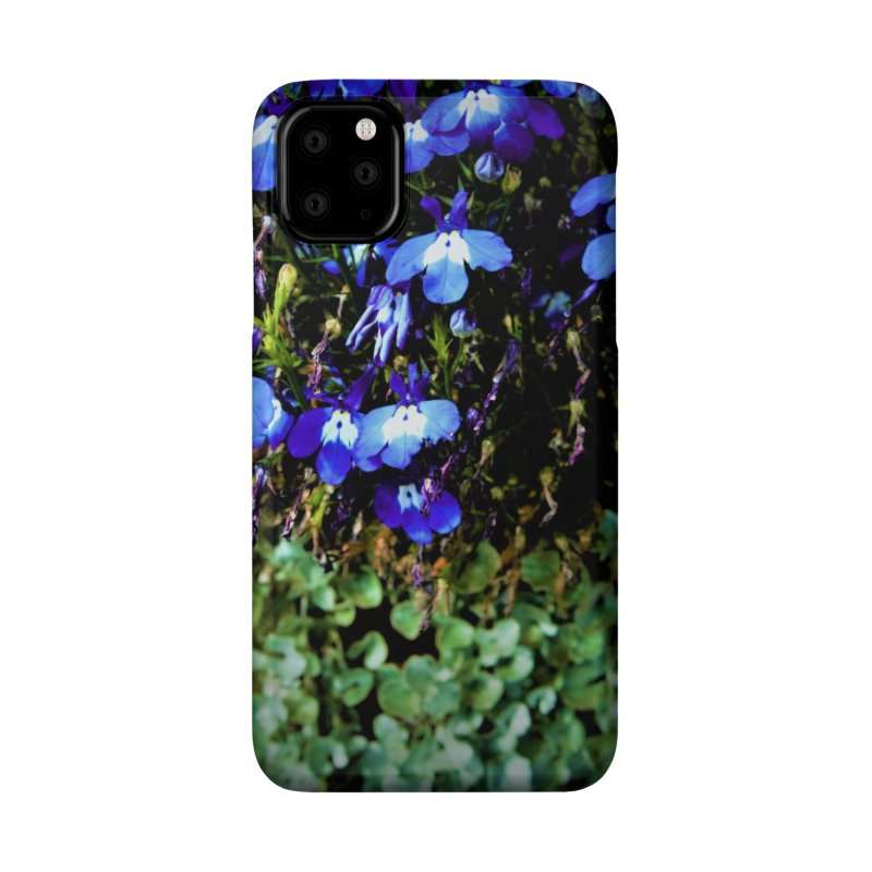 Blue flowers and green leaf in harmony Accessories Phone Case by frydenlundphoto's Artist Shop