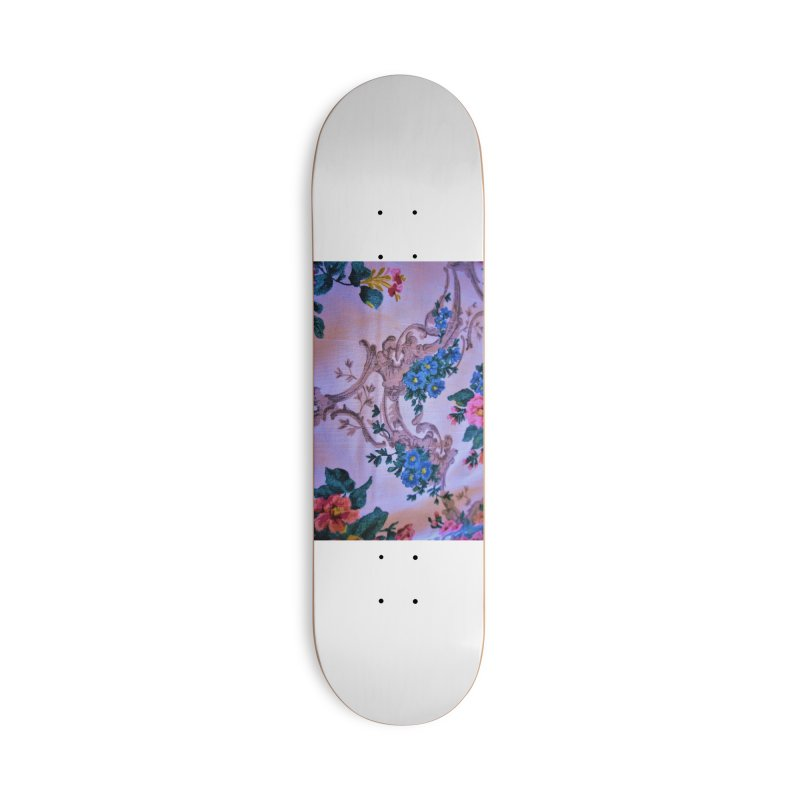 Flowered design photo in different colors in Deck Only Skateboard by frydenlundphoto's Artist Shop