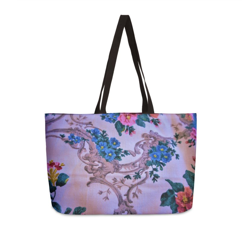 Flowered design photo in different colors in Weekender Bag by frydenlundphoto's Artist Shop