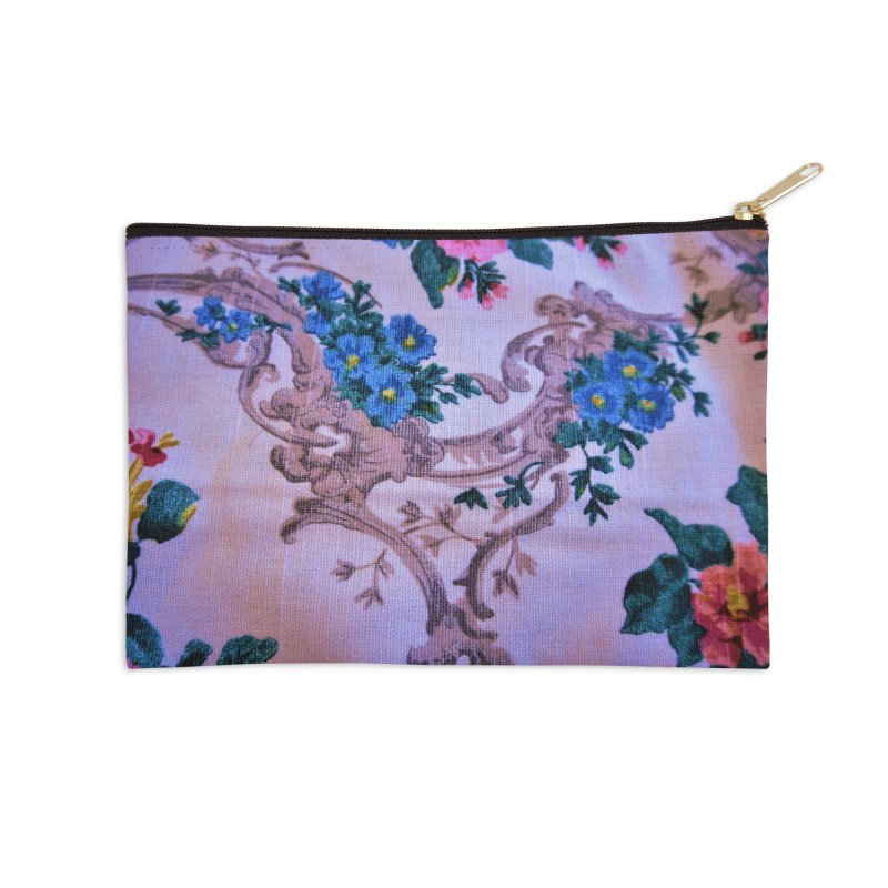 Flowered design photo in different colors in Zip Pouch by frydenlundphoto's Artist Shop