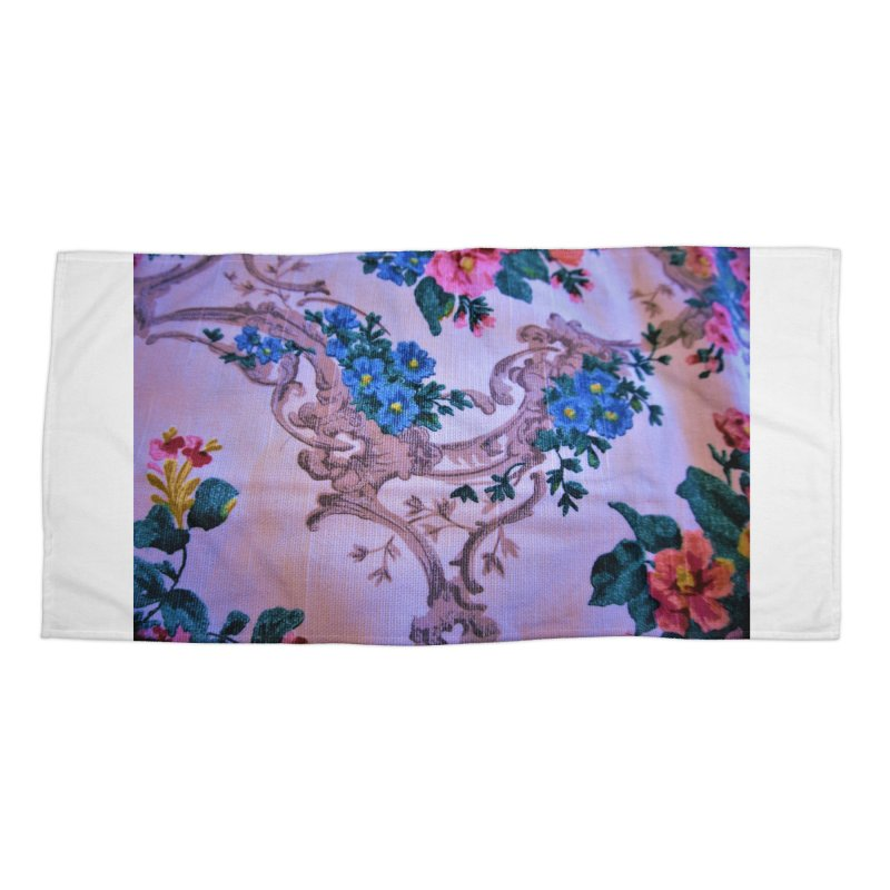 Flowered design photo in different colors in Beach Towel by frydenlundphoto's Artist Shop