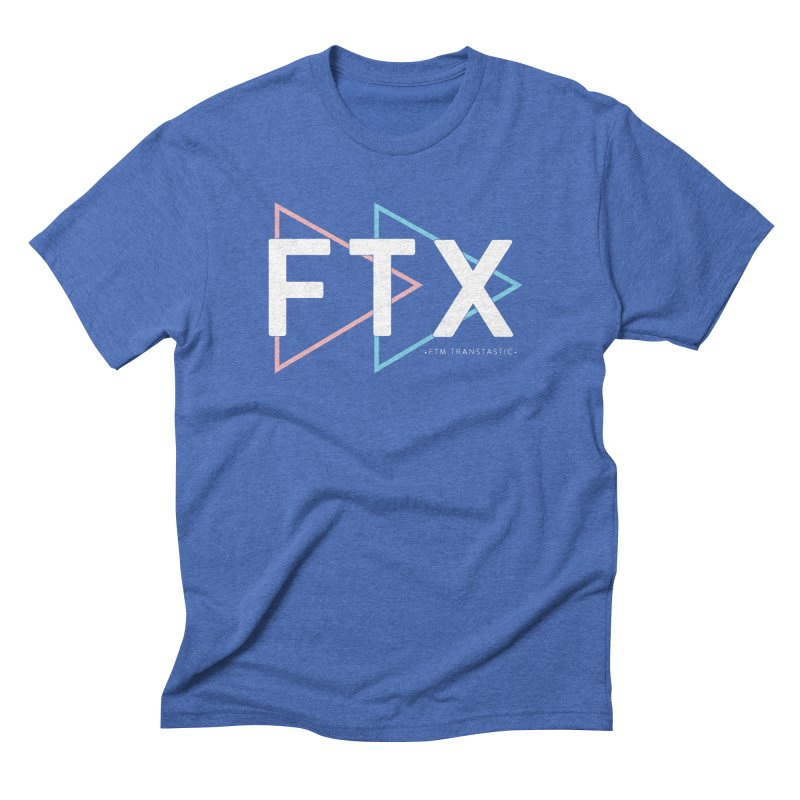 FTX in Men's Triblend T-shirt Blue Triblend by FTM TRANSTASTICS SHOP