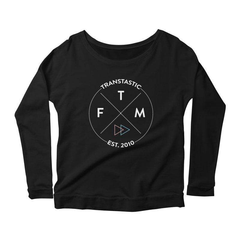 Transtastic Logo! Women's Scoop Neck Longsleeve T-Shirt by FTM TRANSTASTICS SHOP