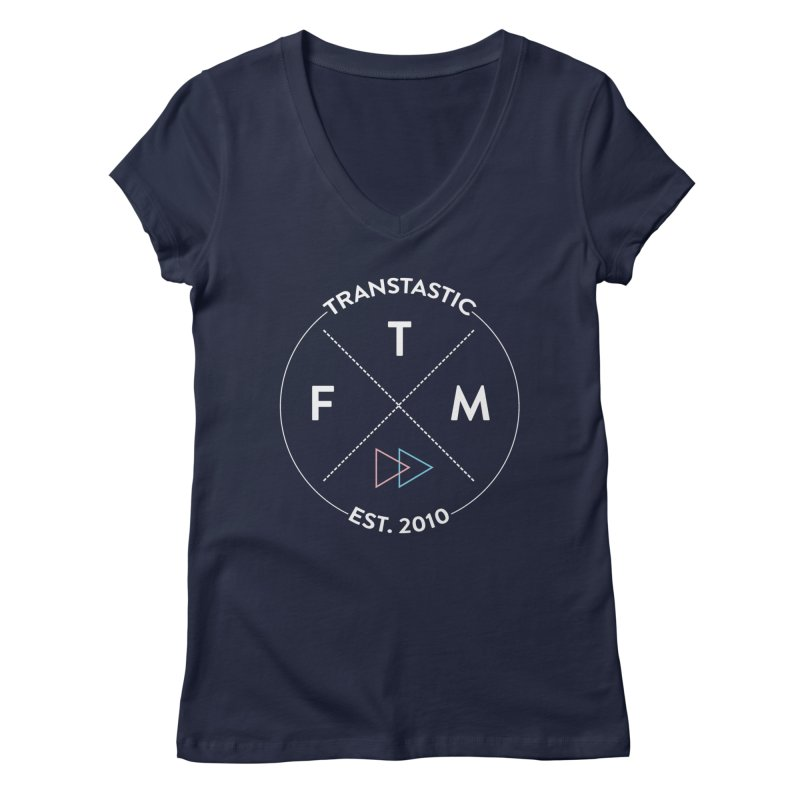 Transtastic Logo! Women's Regular V-Neck by FTM TRANSTASTICS SHOP