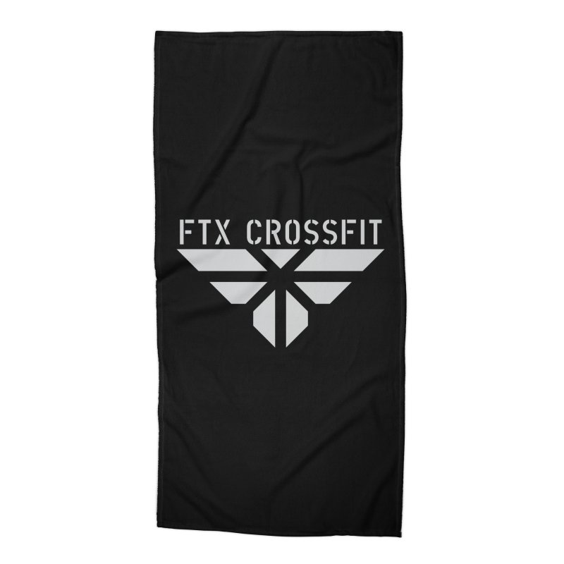 FTX LOGO: ORIGINAL GRAY Accessories Beach Towel by FTX CrossFit Store