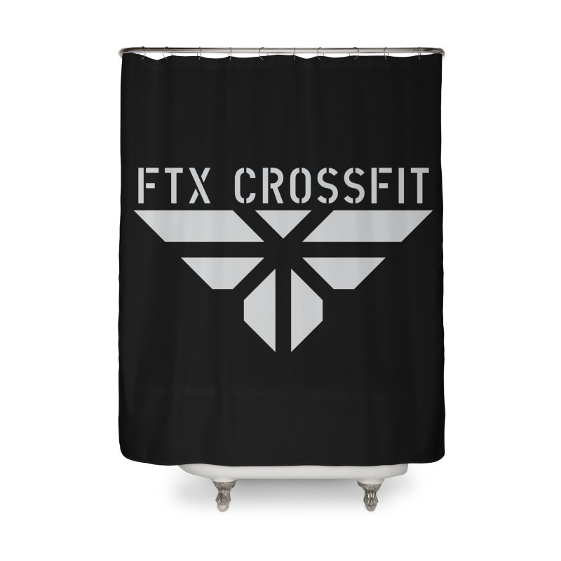 FTX LOGO: ORIGINAL GRAY Home Shower Curtain by FTX CrossFit Store