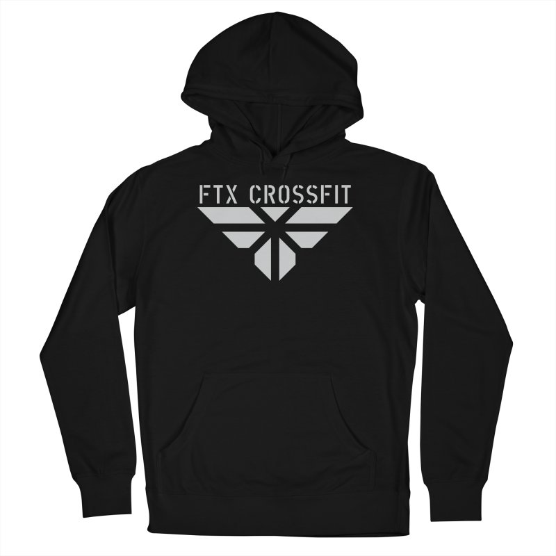 FTX LOGO: ORIGINAL GRAY Men's French Terry Pullover Hoody by FTX CrossFit Store
