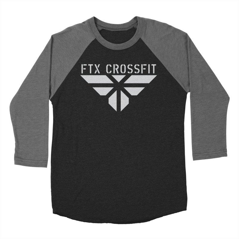 FTX LOGO: ORIGINAL GRAY Men's Baseball Triblend Longsleeve T-Shirt by FTX CrossFit Store