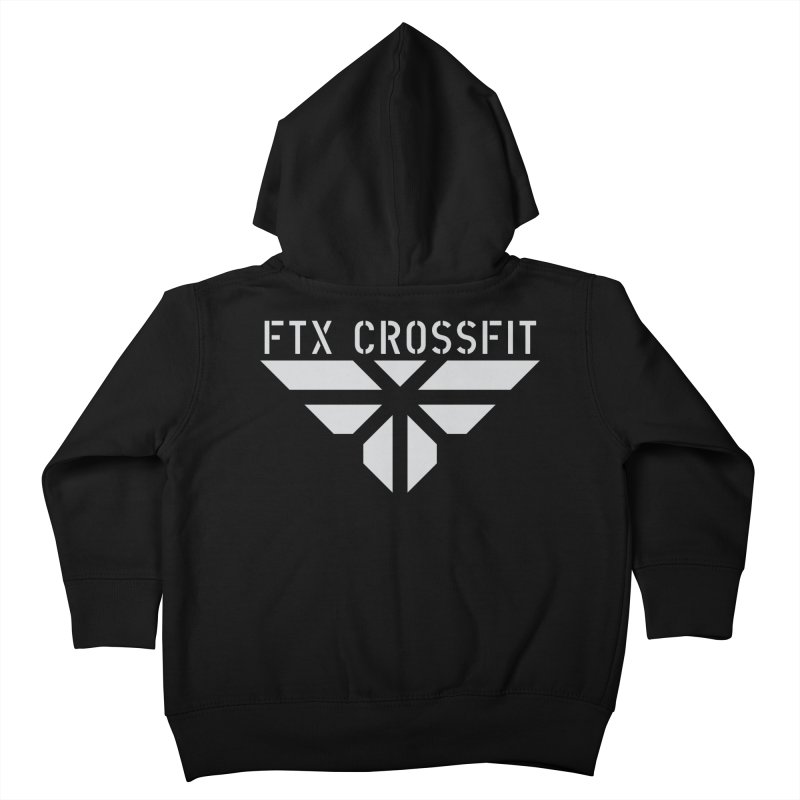 FTX LOGO: ORIGINAL GRAY Kids Toddler Zip-Up Hoody by FTX CrossFit Store