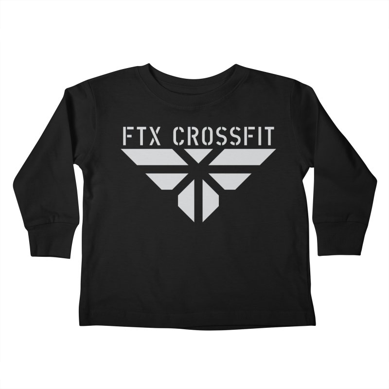 FTX LOGO: ORIGINAL GRAY Kids Toddler Longsleeve T-Shirt by FTX CrossFit Store