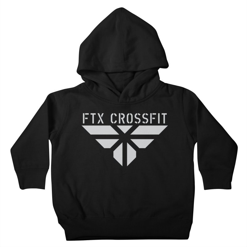 FTX LOGO: ORIGINAL GRAY Kids Toddler Pullover Hoody by FTX CrossFit Store