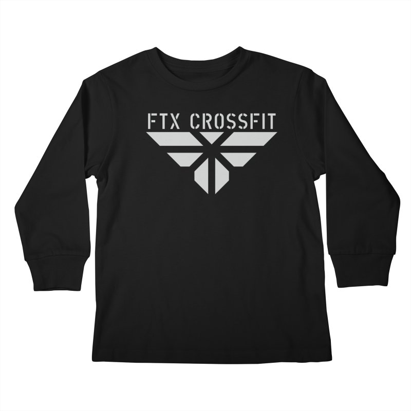 FTX LOGO: ORIGINAL GRAY Kids Longsleeve T-Shirt by FTX CrossFit Store