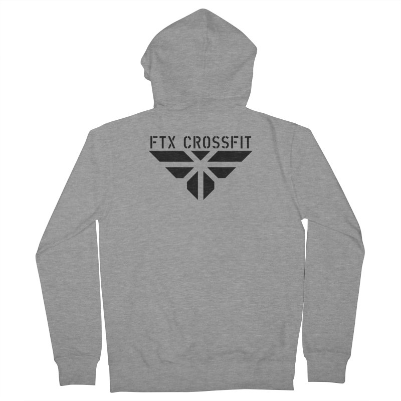 FTX LOGO: ORIGINAL BLACK Women's French Terry Zip-Up Hoody by FTX CrossFit Store