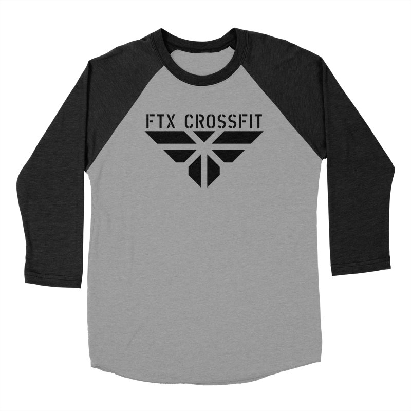 FTX LOGO: ORIGINAL BLACK Women's Baseball Triblend Longsleeve T-Shirt by FTX CrossFit Store
