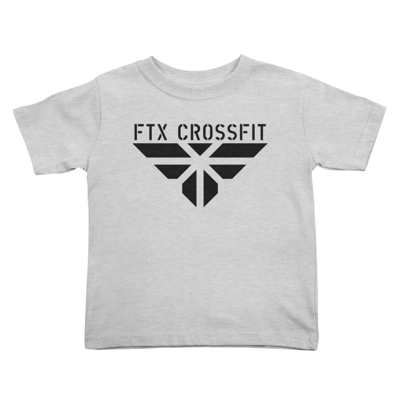 FTX LOGO: ORIGINAL BLACK Kids Toddler T-Shirt by FTX CrossFit Store
