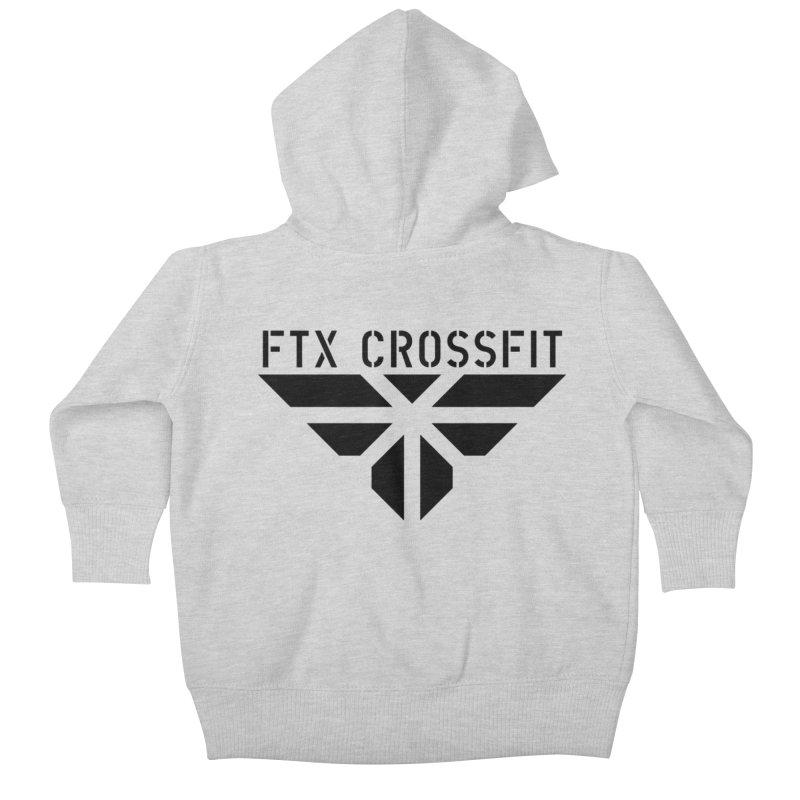 FTX LOGO: ORIGINAL BLACK Kids Baby Zip-Up Hoody by FTX CrossFit Store