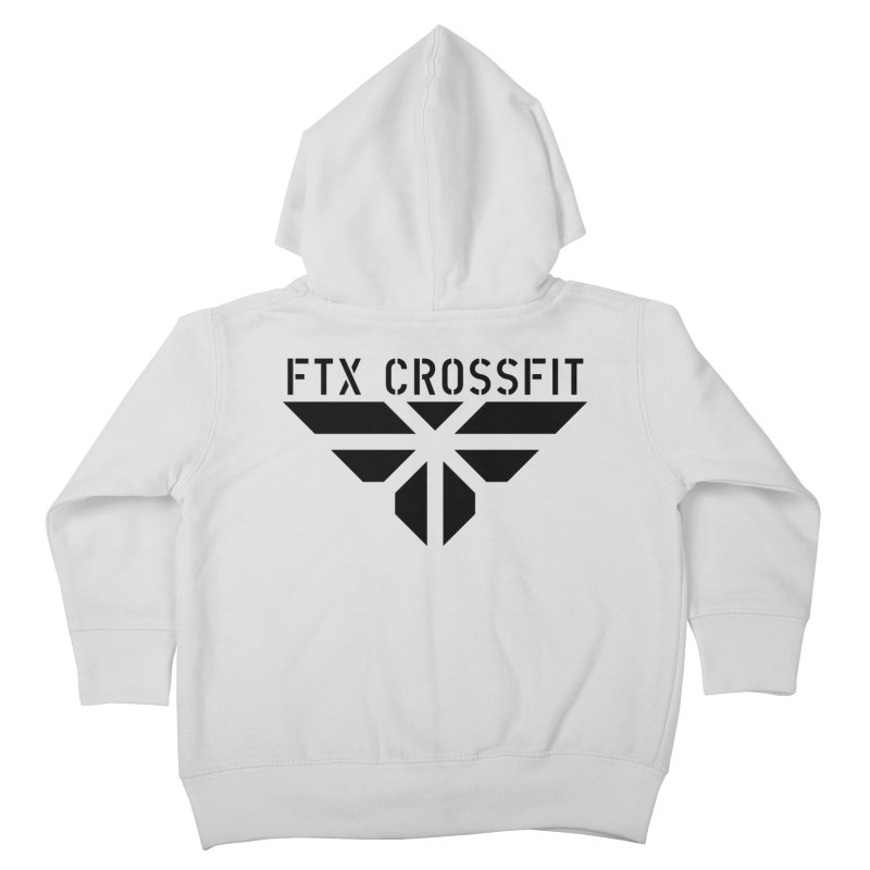 FTX LOGO: ORIGINAL BLACK Kids Toddler Zip-Up Hoody by FTX CrossFit Store