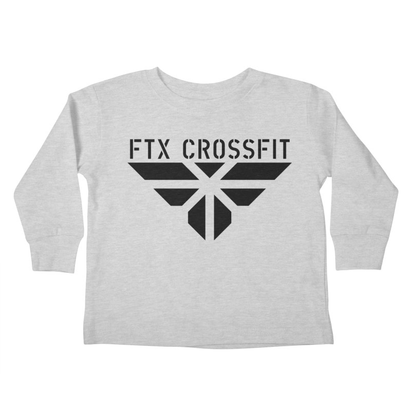 FTX LOGO: ORIGINAL BLACK Kids Toddler Longsleeve T-Shirt by FTX CrossFit Store