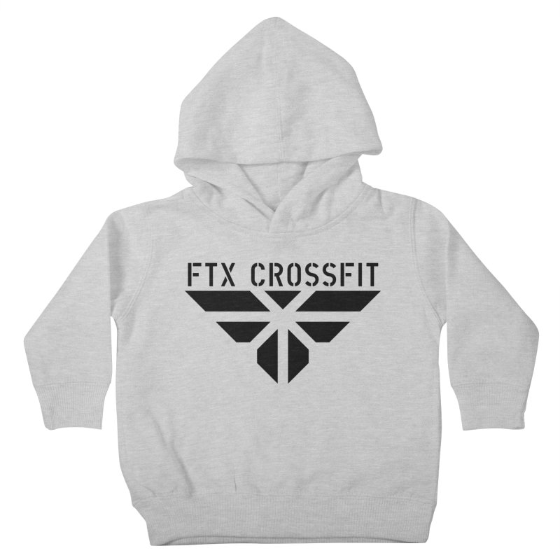FTX LOGO: ORIGINAL BLACK Kids Toddler Pullover Hoody by FTX CrossFit Store