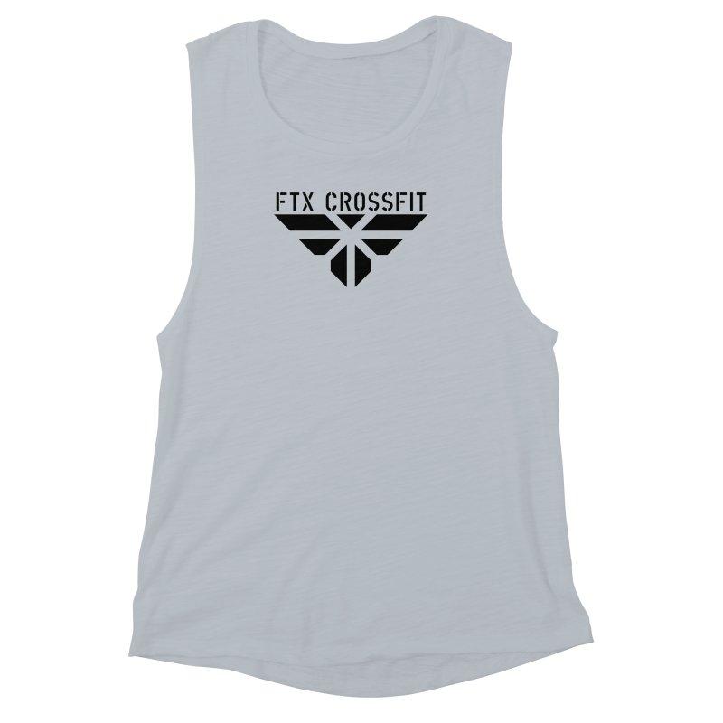 FTX LOGO: ORIGINAL BLACK Women's Muscle Tank by FTX CrossFit Store