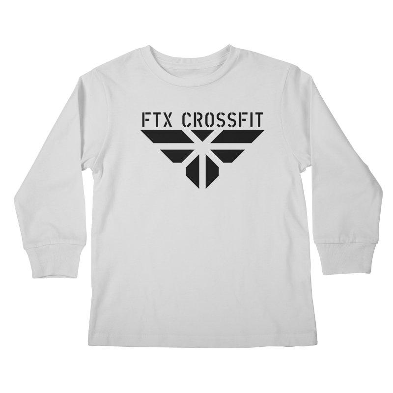 FTX LOGO: ORIGINAL BLACK Kids Longsleeve T-Shirt by FTX CrossFit Store