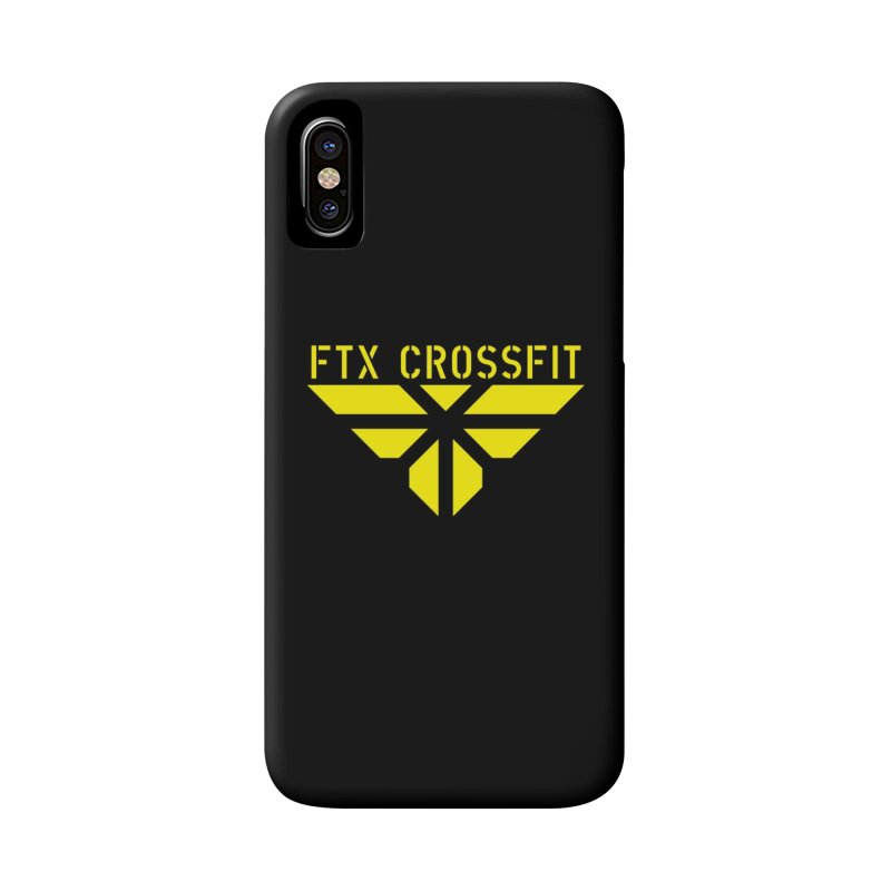 FTX LOGO: ORIGINAL GOLD Accessories Phone Case by FTX CrossFit Store