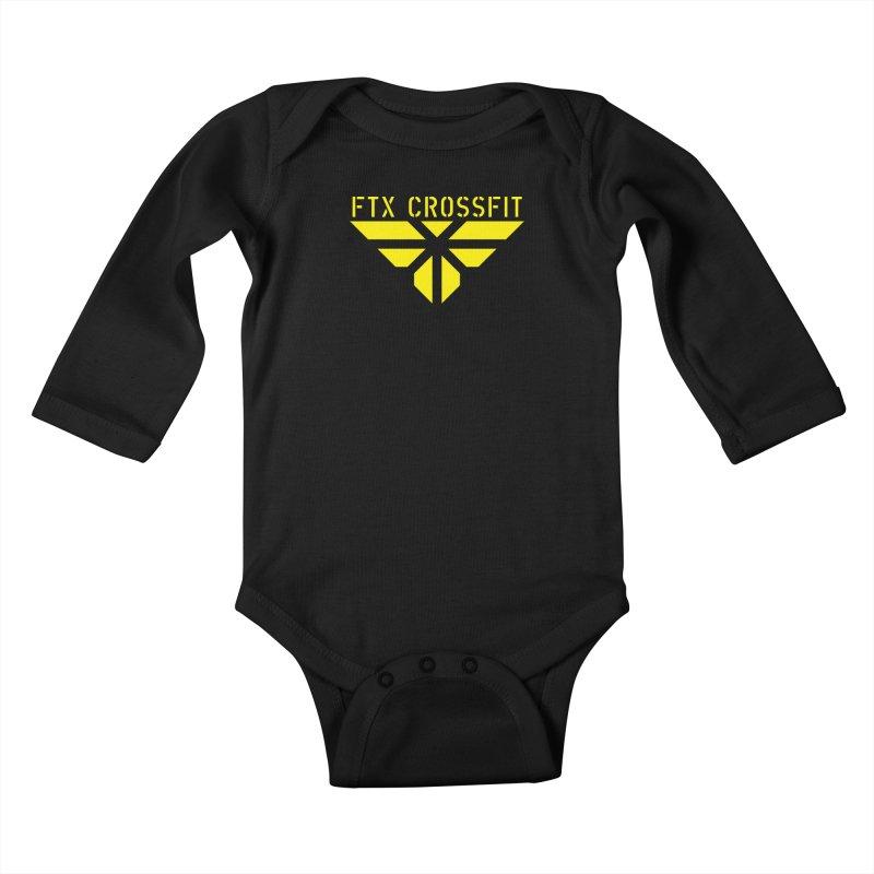 FTX LOGO: ORIGINAL GOLD Kids Baby Longsleeve Bodysuit by FTX CrossFit Store