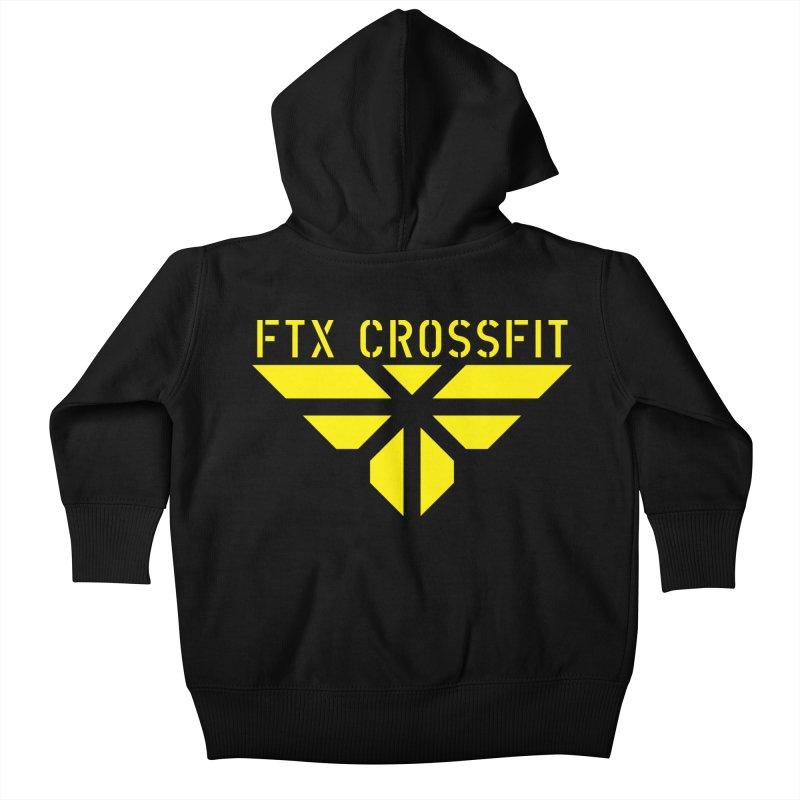 FTX LOGO: ORIGINAL GOLD Kids Baby Zip-Up Hoody by FTX CrossFit Store