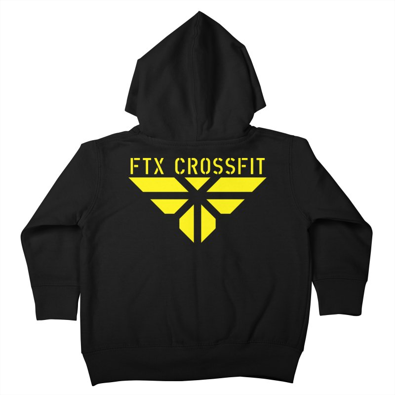 FTX LOGO: ORIGINAL GOLD Kids Toddler Zip-Up Hoody by FTX CrossFit Store