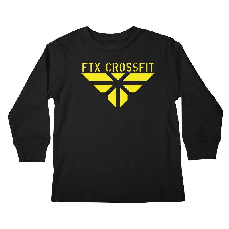 FTX LOGO: ORIGINAL GOLD Kids Longsleeve T-Shirt by FTX CrossFit Store