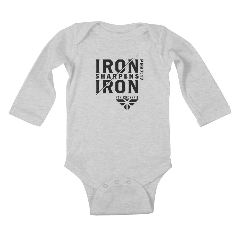 Iron Sharpens Iron 2018 Kids Baby Longsleeve Bodysuit by FTX CrossFit Store