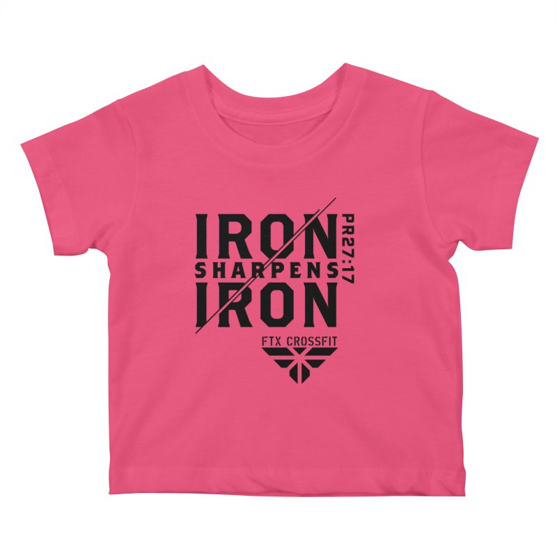 Iron Sharpens Iron 2018 Kids Baby T-Shirt by FTX CrossFit Store