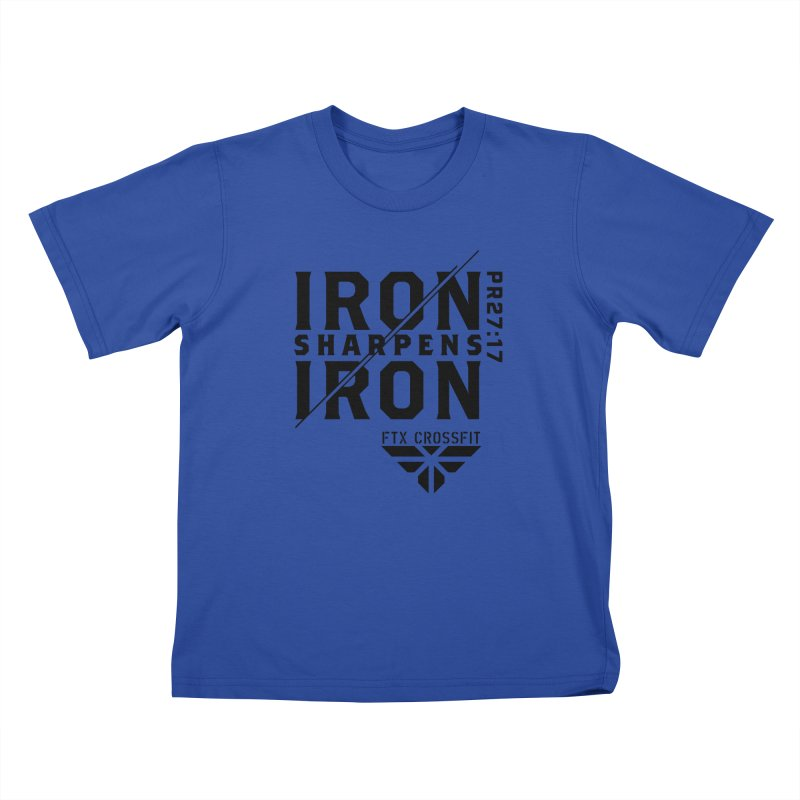 Iron Sharpens Iron 2018 Kids T-Shirt by FTX CrossFit Store