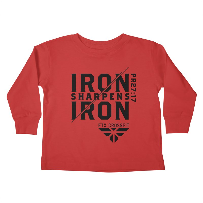 Iron Sharpens Iron 2018 Kids Toddler Longsleeve T-Shirt by FTX CrossFit Store