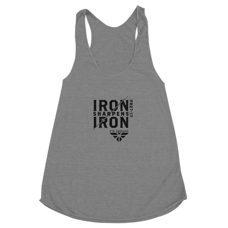 Iron Sharpens Iron 2018 Women's Racerback Triblend Tank by FTX CrossFit Store