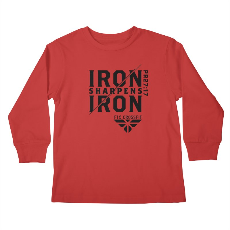 Iron Sharpens Iron 2018 Kids Longsleeve T-Shirt by FTX CrossFit Store