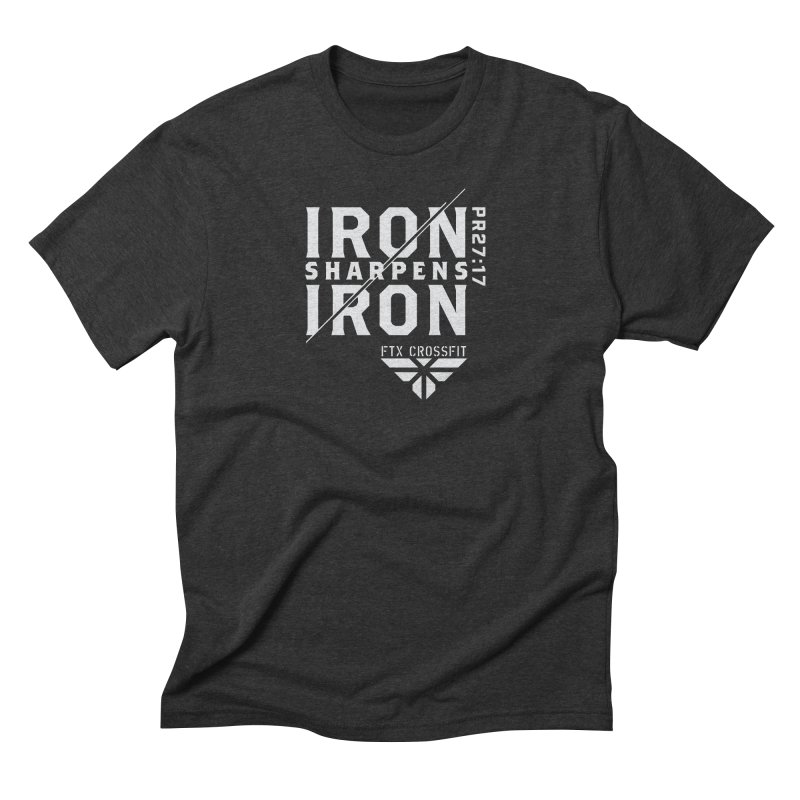 Iron Sharpens Iron 2018 (W) Men's Triblend T-Shirt by FTX CrossFit Store