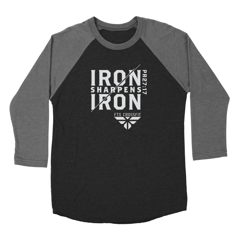 Iron Sharpens Iron 2018 (W) Men's Baseball Triblend Longsleeve T-Shirt by FTX CrossFit Store