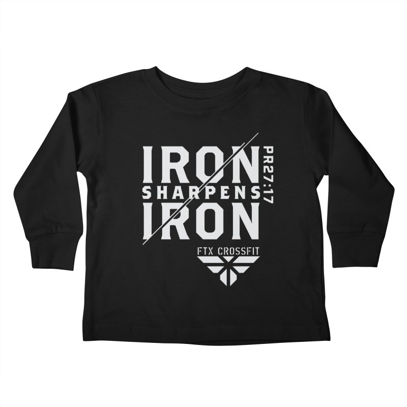 Iron Sharpens Iron 2018 (W) Kids Toddler Longsleeve T-Shirt by FTX CrossFit Store