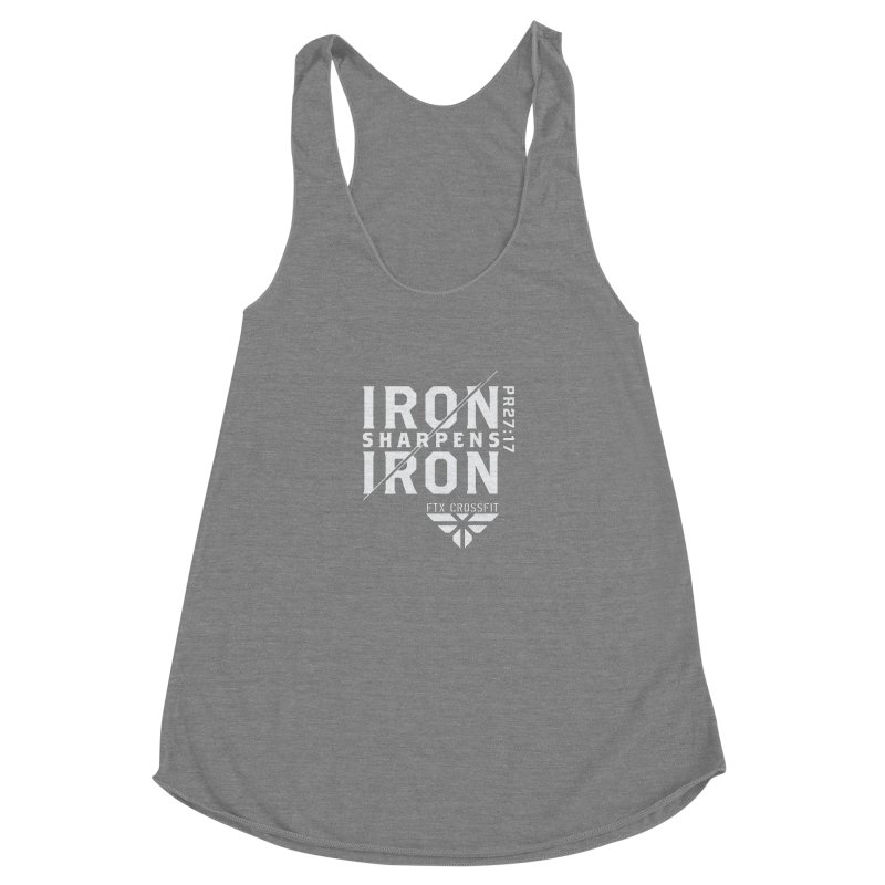 Iron Sharpens Iron 2018 (W) Women's Racerback Triblend Tank by FTX CrossFit Store