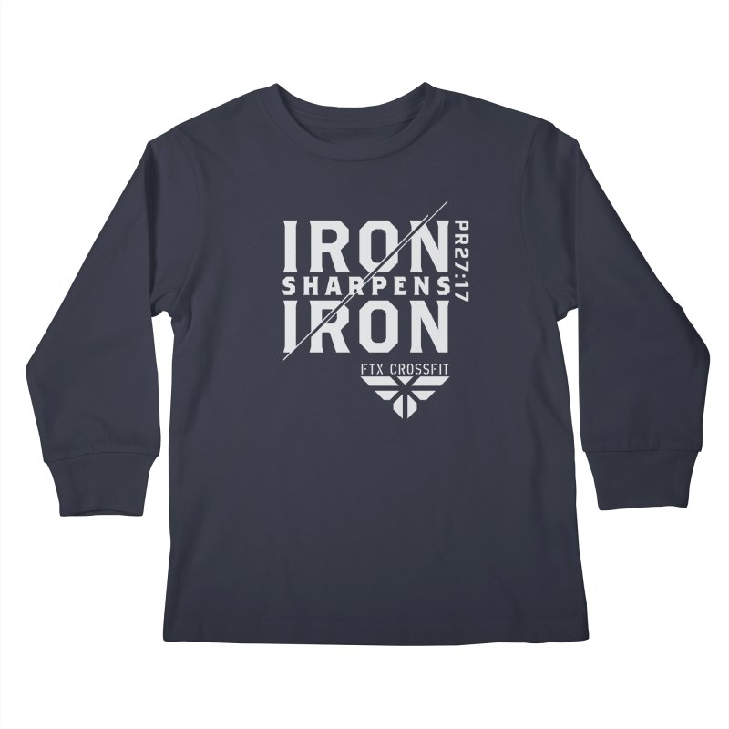 Iron Sharpens Iron 2018 (W) Kids Longsleeve T-Shirt by FTX CrossFit Store